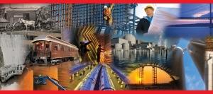 Bechtel - ART - collage on box lid - BUILDERS